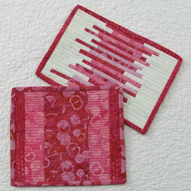 Valentine strip mug rug tutorial