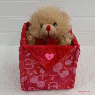 Happy Valentine's Day Fabric Baskets