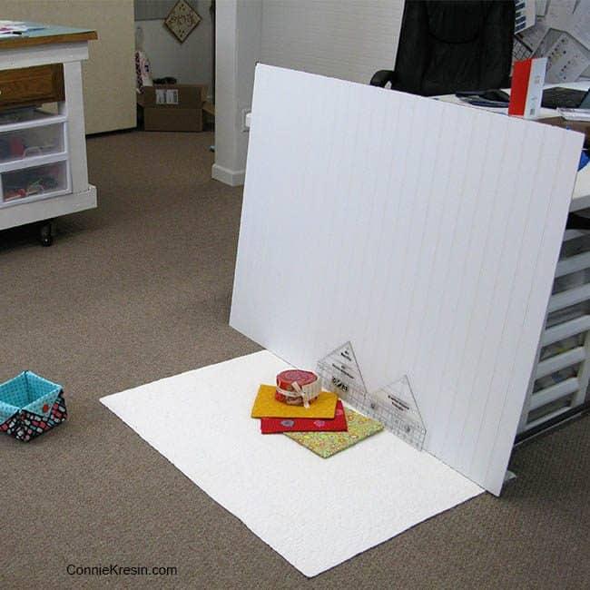 photographing Kaffe fabrics in studio