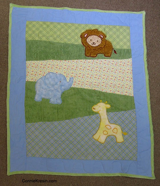 Baby Zoo Animals Quilt