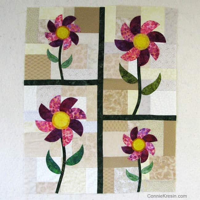 Batik Flower Wall Hanging
