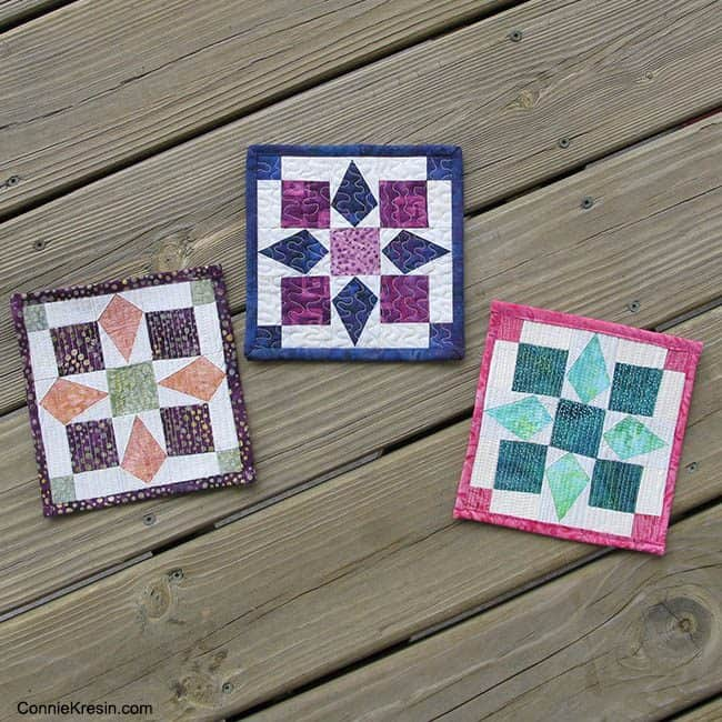 Mini Bird Quilt Tutorial 3 Different Looks fast and easy