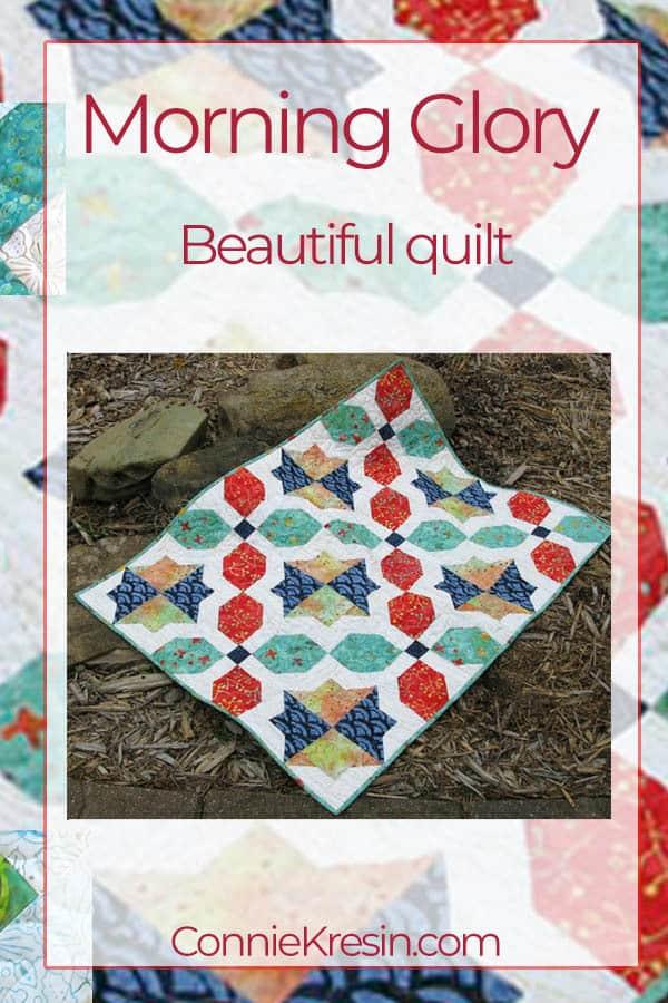 Morning Glory batik quilt pattern