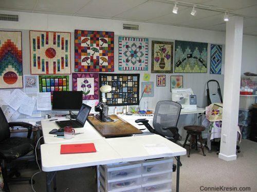 Tour my Quilt Studio at conniekresin.com