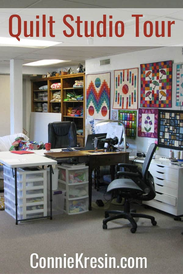 Take a tour of my quilt studio craft room which is 500 square foot