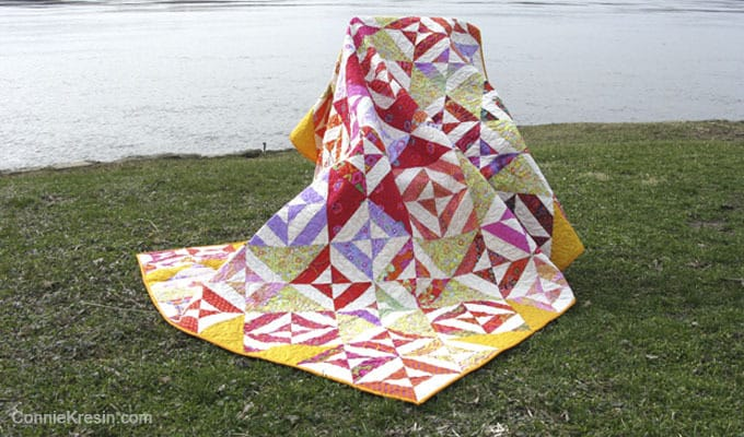 SpellBound Quilt made with Kaffe fabrics