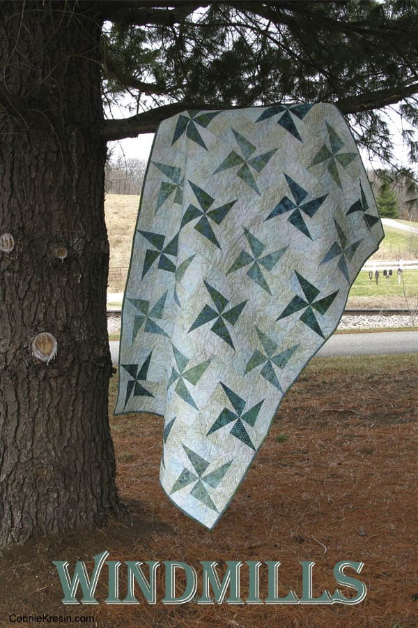 Twirling Windmills quilt tutorial is fast and easy to make