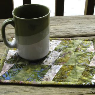 BasiX Green Mug Rug tutorial