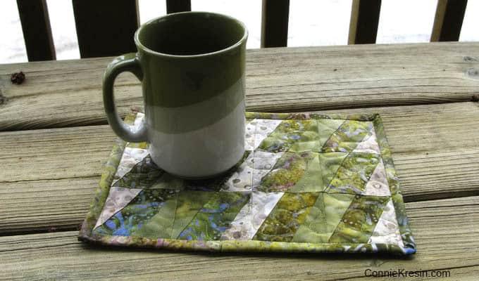 BasiX Green Mug Rug tutorial
