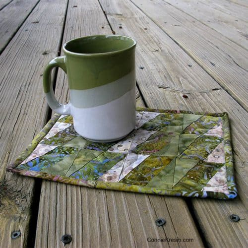 BasiX Green-Mug-Rug tutorial