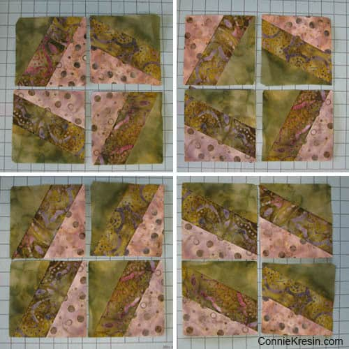 BasiX Green Mug Rug tutorial block ideas
