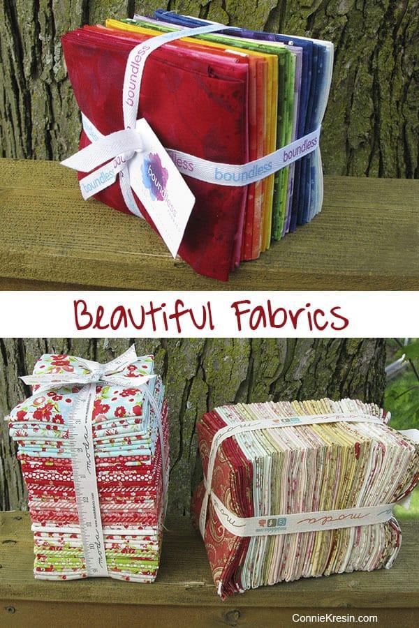 Beautiful Fabrics for quilting Fat Quarter Bundles