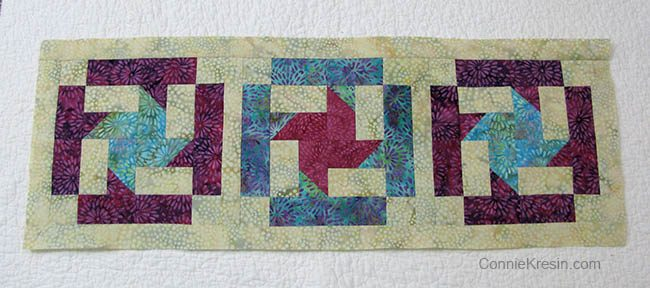 Coastal Mist Table Runner pieced