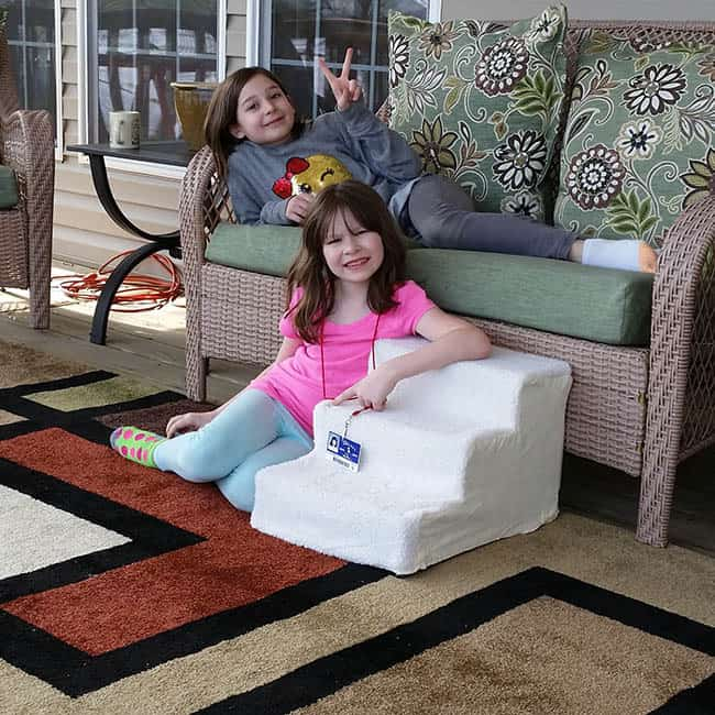 Granddaughters on the deck