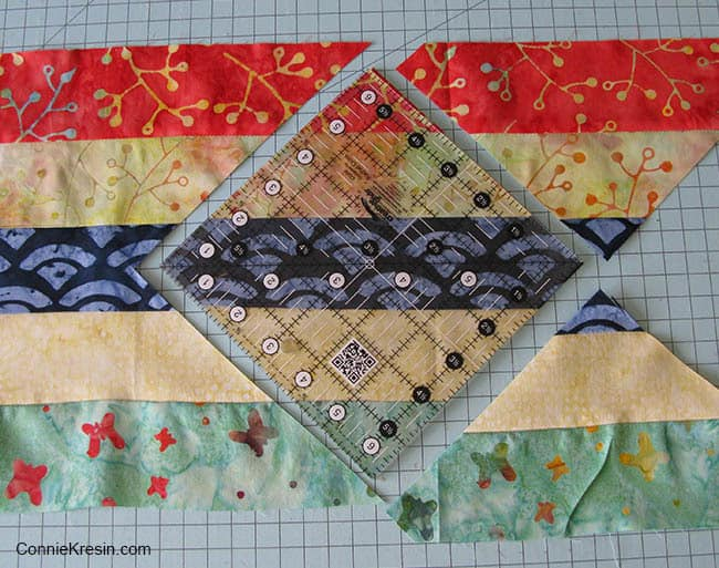 Jelly Roll Check cutting blocks