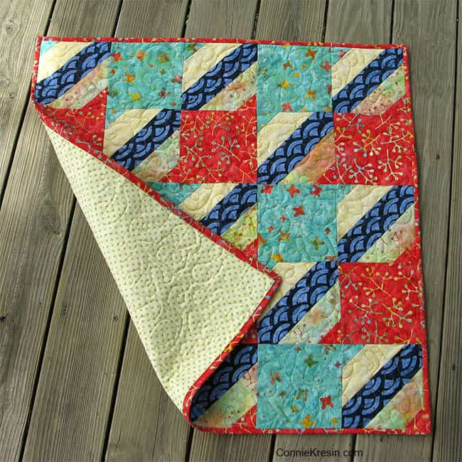 Jelly Roll Check quilt backing