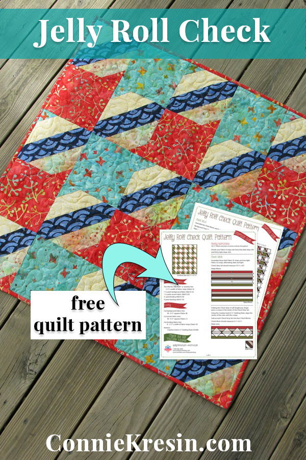 Jelly Roll free easy to make Check Quilt pattern