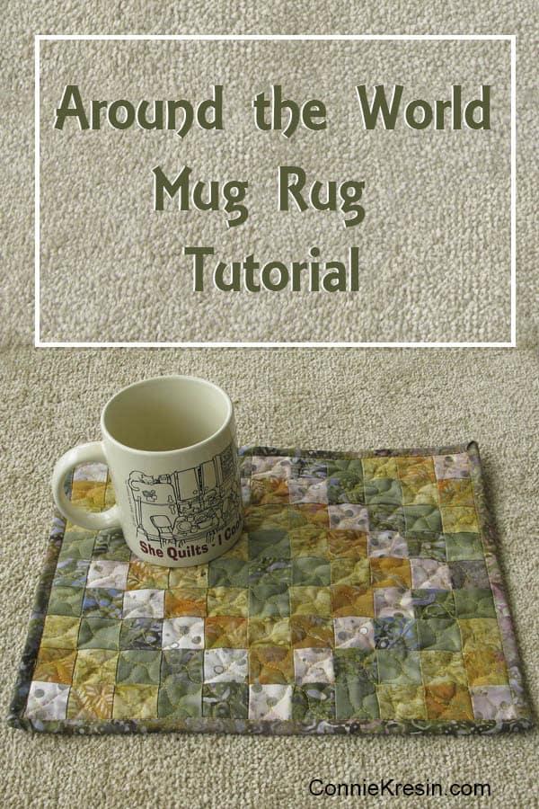 Mini Around the World Mug Rug tutorial