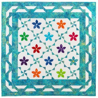 Free Pattern Rick Rack Flower Throw