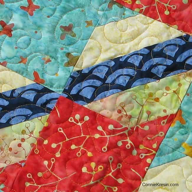 Sneak Peek Aurifil thread on batiks