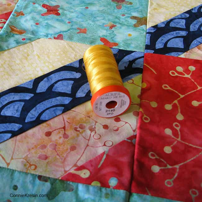 Aurifil thread Jelly Roll Check in Sunday Drive