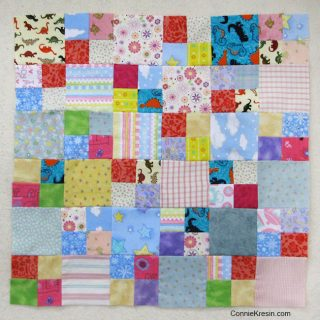 Flannel scrap blocks for a quilt as you go quilt