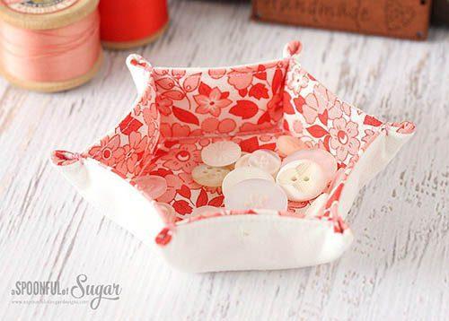 ASpoonful of Sugar designs Hexagon Fabric Tray Tutorial