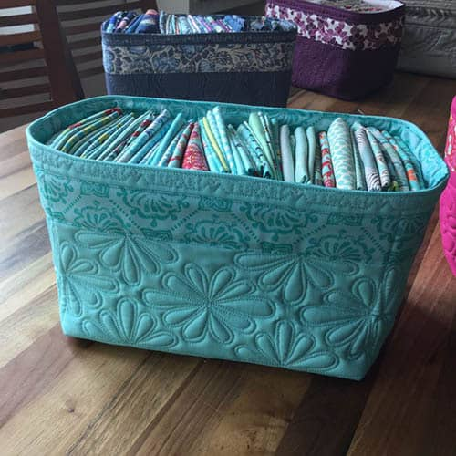 Beautiful quilted basket tutorial