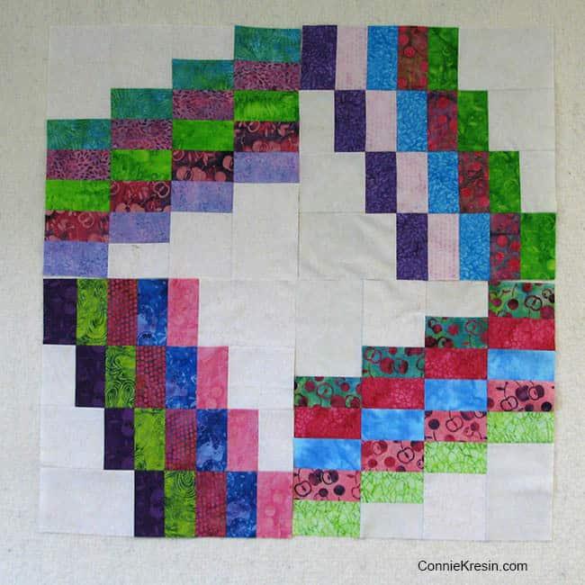 Swirly quilt blocks