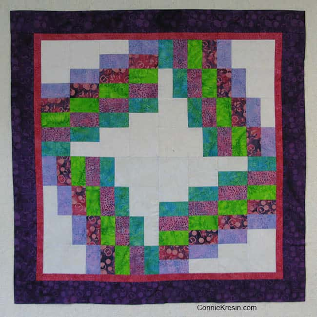 Cherry Berry Batik quilt before applique