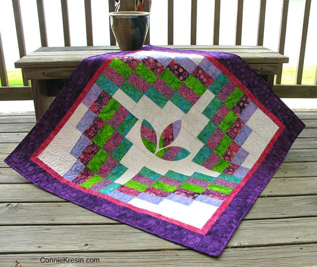Cherry Berry Island Batik collection quilt