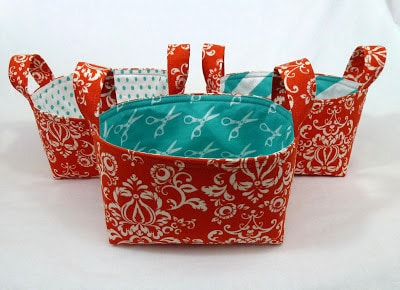 Leslies Art and Sew fabric baskets tutorial