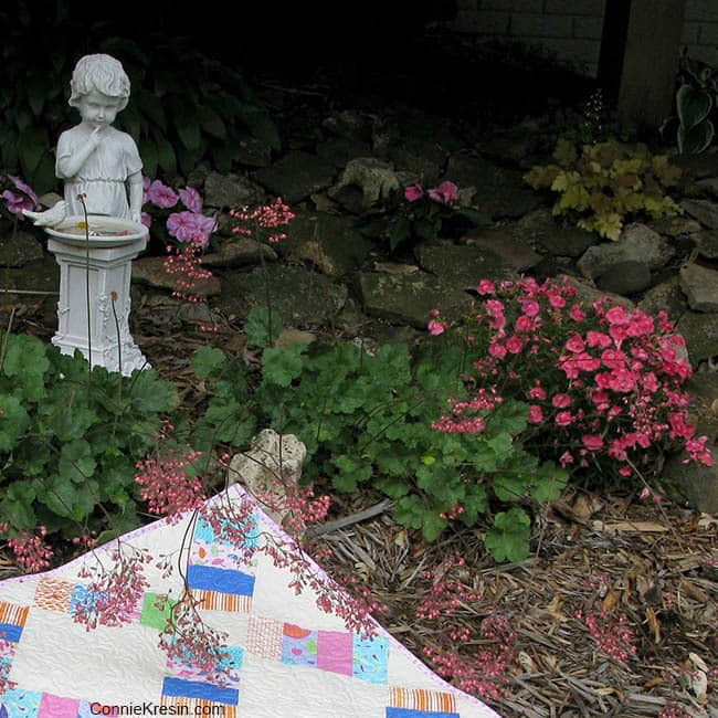 Quilt Flower Bed Statue - ConnieKresin.com