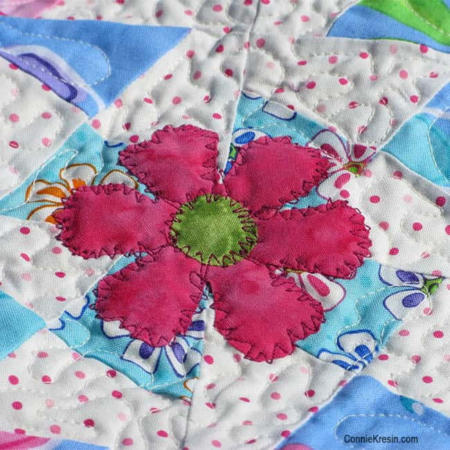Twister Baby Quilt Tutorial applique