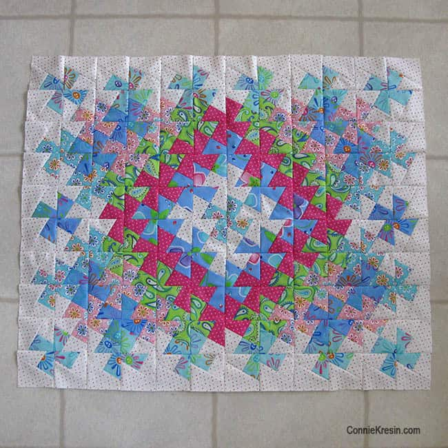 Twister Baby Quilt Tutorial blocks