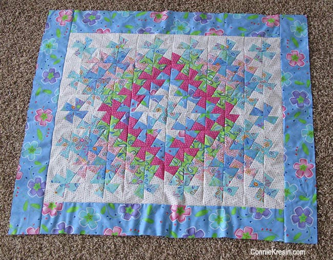 Twister Baby Quilt Tutorial borders