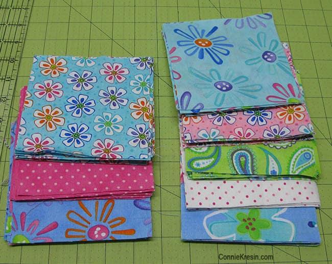 Twister Baby Quilt Tutorial fabrics