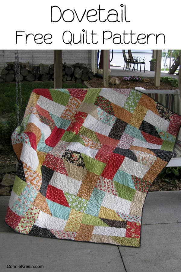 Dovetail Free Quilt Pattern - ConnieKresin.com