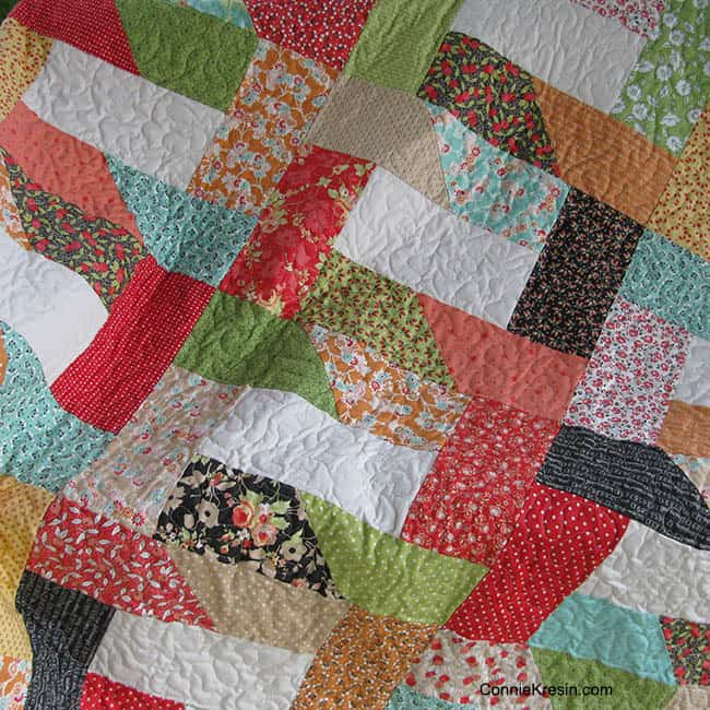 Dovetail quilt quilted