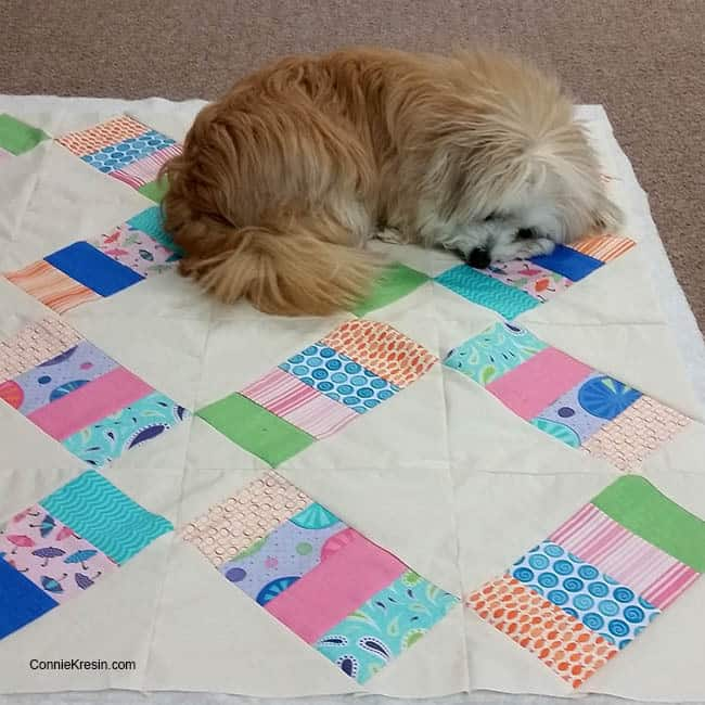 Jelly Roll Railway quilt Sadie