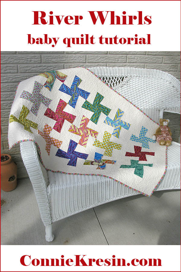 River Whirls easy baby quilt tutorial