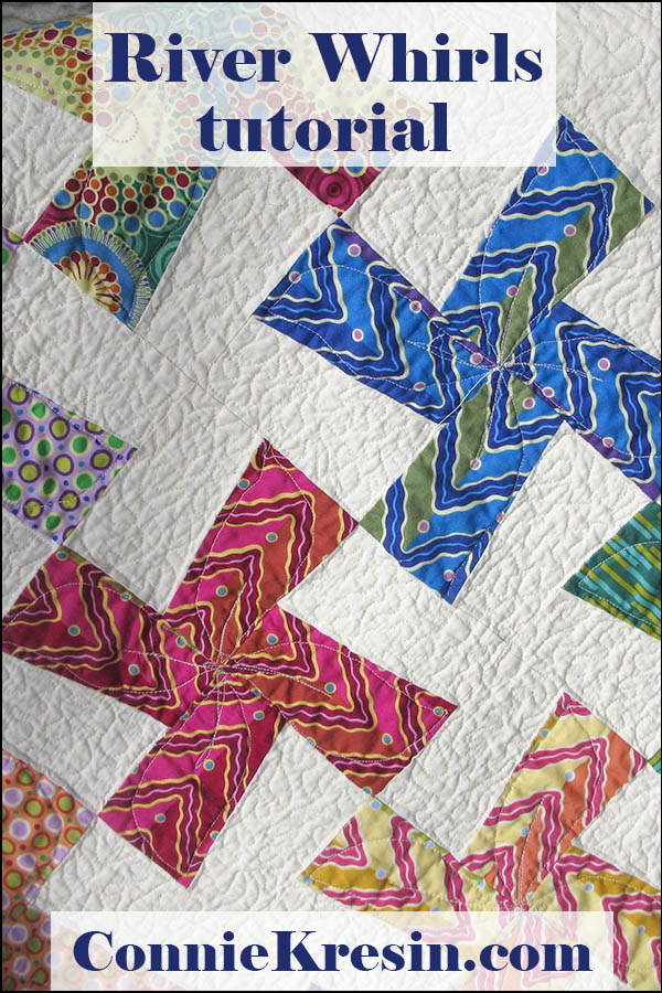 River Whirls quilt tutorial is fast to make