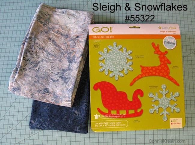 Sleigh Snowflake die