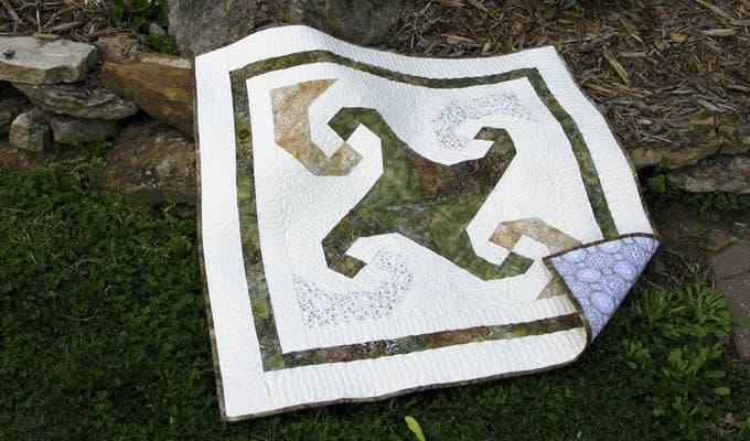 Snail Trail Batik Quilt