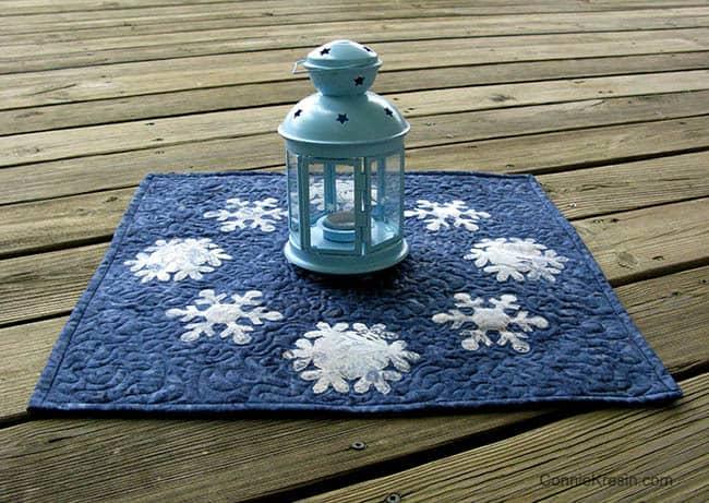 Snowflake with lantern