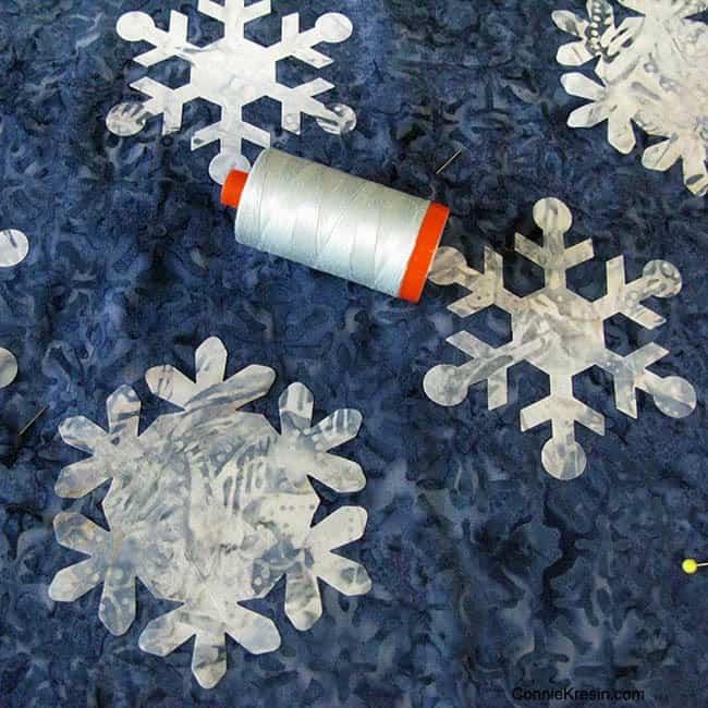 Snowflakes Aurifil