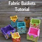 Free Quilt Patterns Fabric Basket Tutorial