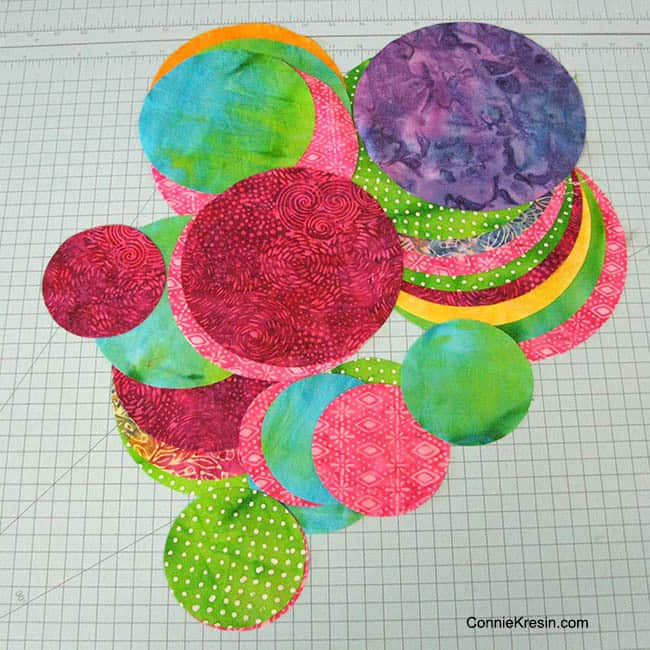 Batik Circles precut with AccuQuilt GO! die