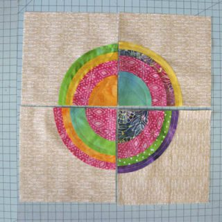 Batik Bulls Eye Quilt Block Tutorial