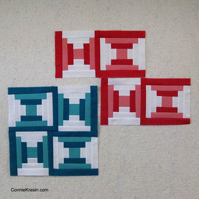 Bella Skillbuilder Courthouse Steps free block pattern